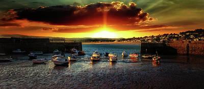 St. Michael Photograph - Marazion Cornwall by Martin Newman