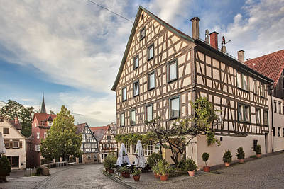 Town Photograph - Marbach And Schillers Geburtshaus by Marcia Colelli