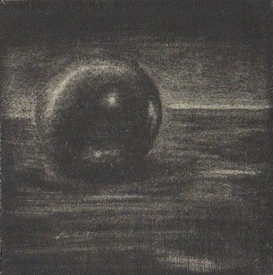 Drawing - Marble, Biege Paper by Erik Paul