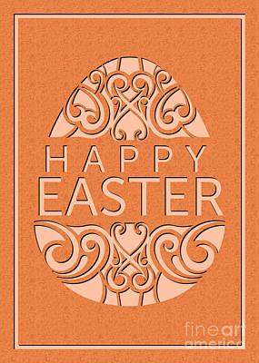Digital Art - Marble Deco Easter Egg by JH Designs