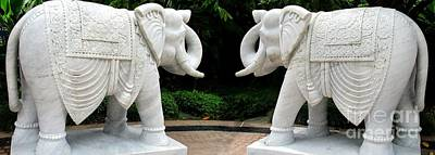 Photograph - Marble Elephants by Randall Weidner