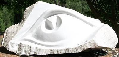 Marble Eye  Original by Marino Ceccarelli Sculptor