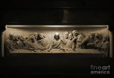 Photograph - Marble Last Supper by Patti Whitten