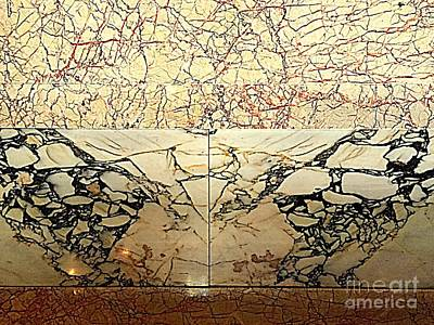 Photograph - Marble On Marble 2 by Nancy Kane Chapman