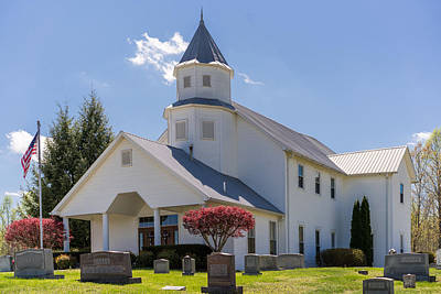 Photograph - Marble Plains Baptist Church by Paula Ponath