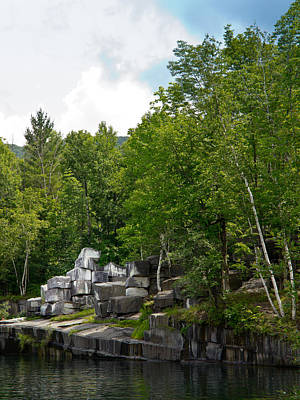 Marble Quarry In Dorset, Vermont Print by Lynne Albright