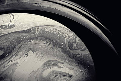 Planet System Painting - Marble Saturn by Fbmovercrafts