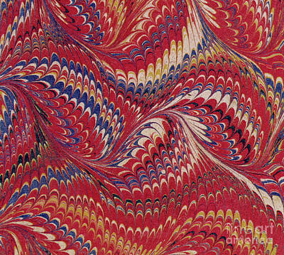 Hypnosis Painting - Marbled Endpaper by English School