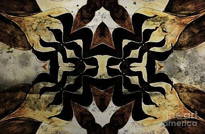 Mixed Media - Marbled Patterns by Jolanta Anna Karolska