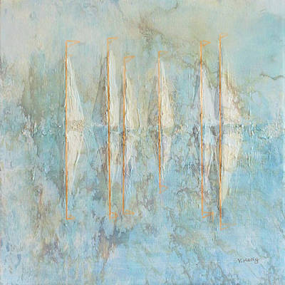 Painting - Marbled Yachts by Valerie Anne Kelly
