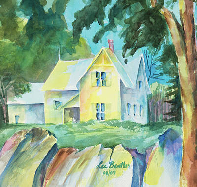 Painting - Marblehead Cottage by Lee Beuther