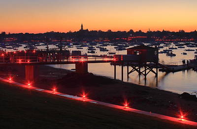 Photograph - Marblehead Harbor Independence Day Illumination by John Burk