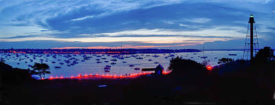 Photograph - Marblehead Illumination In Panoramic by Jeff Folger
