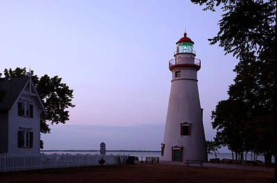 Photograph - Marblehead Lighthouse At Dusk by Ann Bridges