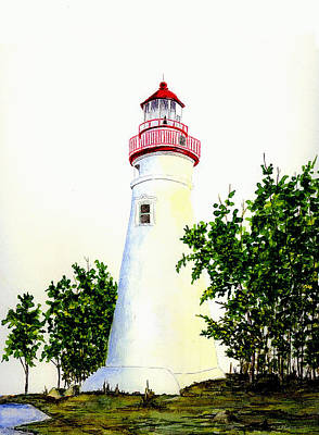 Lake Erie Wall Art - Painting - Marblehead Lighthouse by Michael Vigliotti