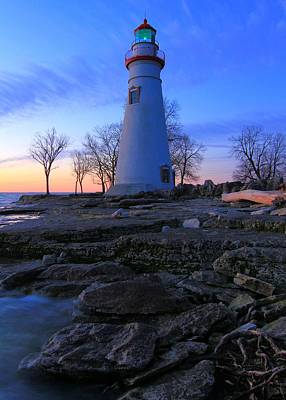 Photograph - Marblehead Lighthouse Predawn by Dan Sproul