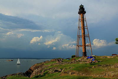 Photograph - Marblehead Lighthouse Storm Clouds by John Burk
