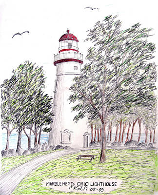 Marblehead Ohio Lighthouse  Original