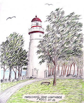 Marblehead Ohio Lighthouse  Original by Frederic Kohli