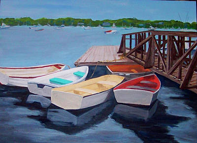 Painting - Marblehead Yacht Club by Ronald Lightcap