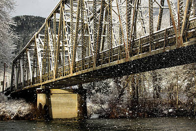 Photograph - Marblemount Wa Bridge by Bob Cournoyer