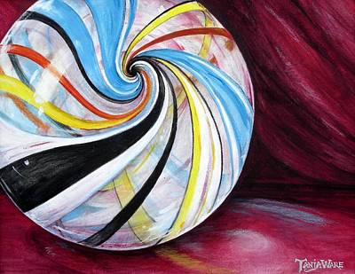 Multi Colored Painting - Marbleous by Tanja Ware