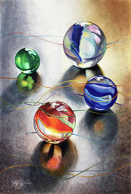 Painting - Marbles 3 by Carolyn Coffey Wallace