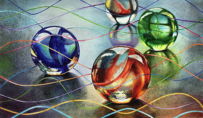 Painting - Marbles 4 by Carolyn Coffey Wallace