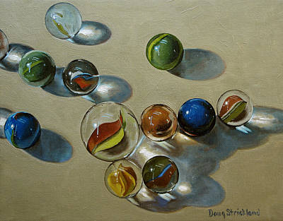 Marbles Art Print by Doug Strickland