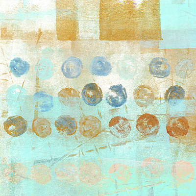 Rustic Mixed Media - Marbles Found Number 1 by Carol Leigh