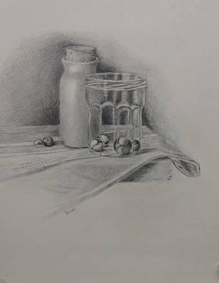 Drawing - Marbles by Grace Diehl
