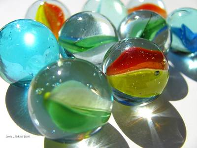 Photograph - Marbles by Jennie  Richards
