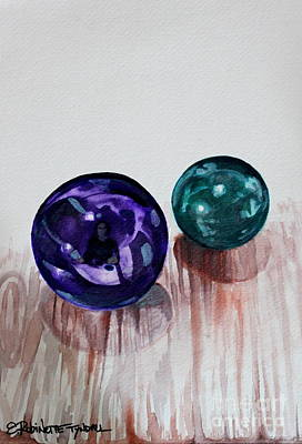 Marbles Of My Reflection Art Print by Elizabeth Robinette Tyndall