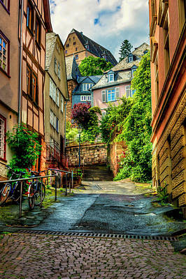 Print featuring the photograph Marburg Alley by David Morefield
