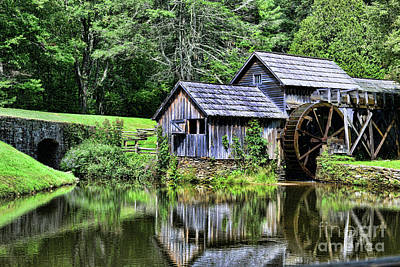 Blueridge Photograph - Marby Mill 3 by Paul Ward