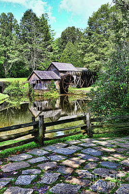 Grist Mill Photograph - Marby Mill Pathway by Paul Ward