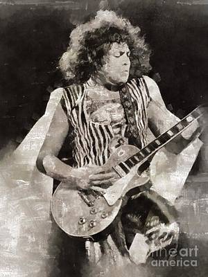 Musicians Royalty Free Images - Marc Bolan, T-Rex, Musician Royalty-Free Image by Esoterica Art Agency