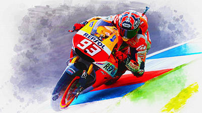 Marc Marquez Get Up Close Art Print