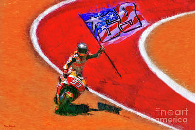 Photograph - Marc Marquez Honors Nicky Hayden by Blake Richards