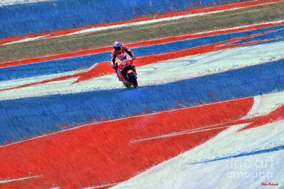 Photograph - Marc Marquez Lost In Austin by Blake Richards