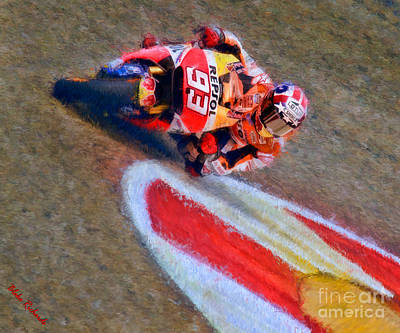 Photograph - Marc Marquez On His Way by Blake Richards