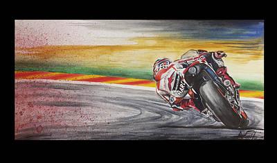 Motogp Painting - Marc Marquez Valencia 2014 by Adrian Lopez Lozano