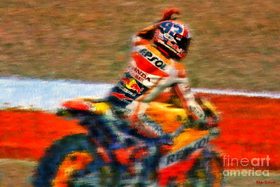Photograph - Marc Marquez Wave by Blake Richards