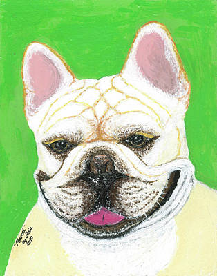 Print featuring the painting Marcel French Bulldog by Ania M Milo