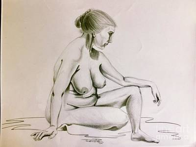 Drawing - Marcella, The Model by Dale Turner