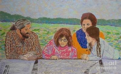 Pastel - Marcel's Family  by Rae  Smith PAC