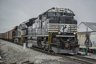 Evansville Photograph - March 18. 2015 - Norfolk Southern Loaded Coal Train Ndn-1 by Jim Pearson