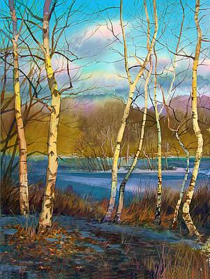 March. Birches Art Print