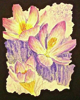 Painting - March Crocus by Carolyn Rosenberger