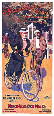 Mixed Media - March-davis Cycle Mfg Co - Bicycle - Vintage Advertising Poster by Studio Grafiikka